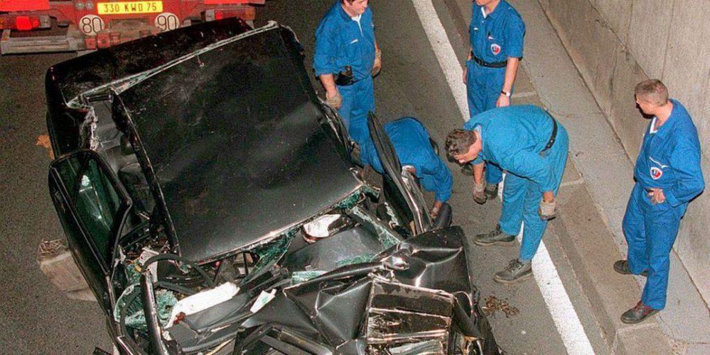 Imagen del accidente que provocó la muerte de Lady Di.