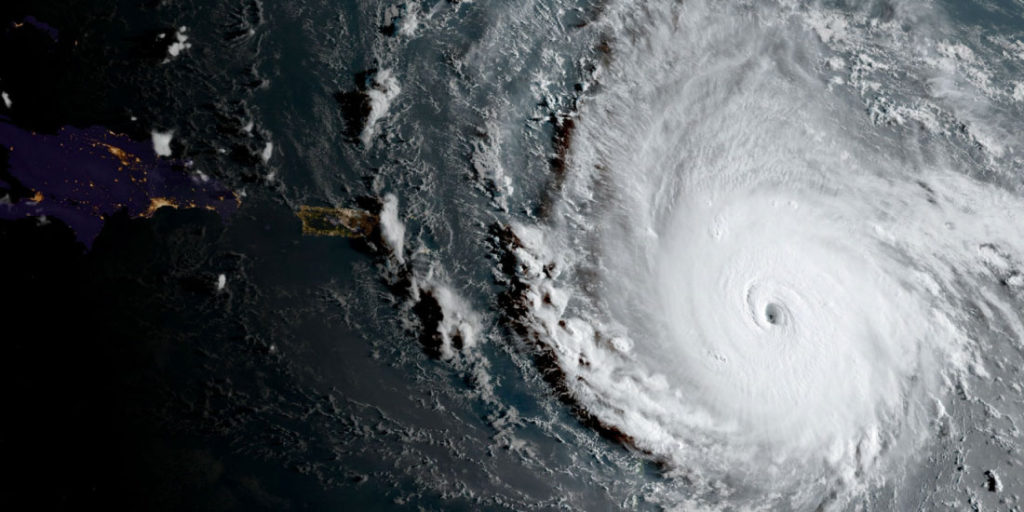 Huracán Irma sobre el Caribe