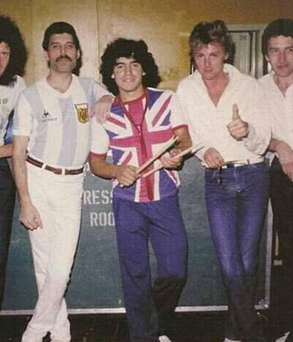 Maradona y Freddie Mercury
